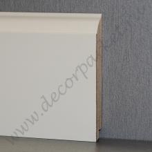 Белый фигурный плинтус мдф 100х16